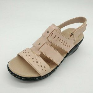 Clarks Womens Lexi Qwin Leather Sandals 10W New